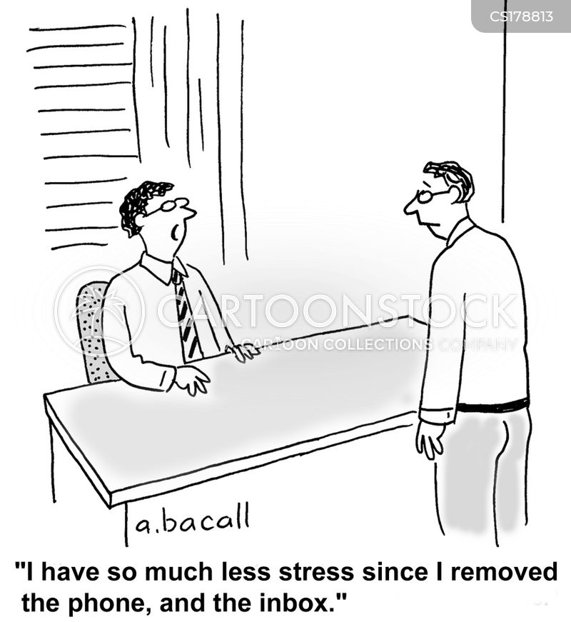 stress reduction cartoon