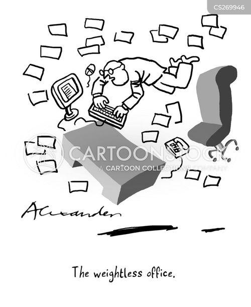 weightless cartoon