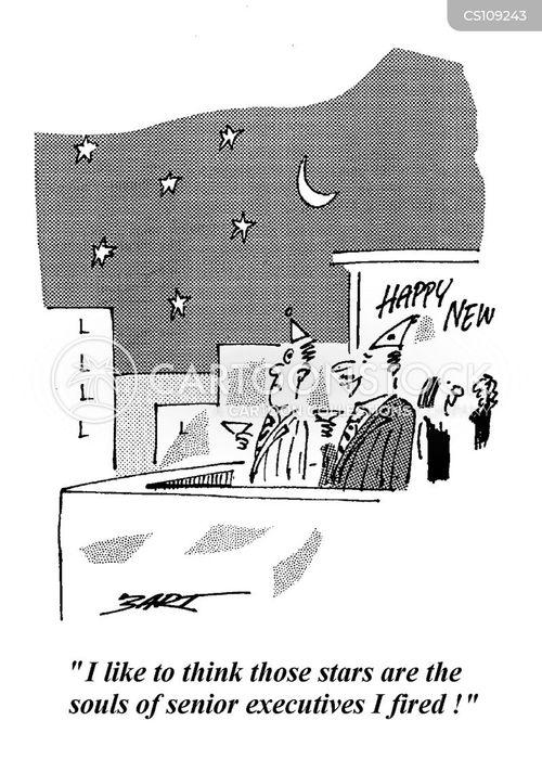 senior executives cartoon