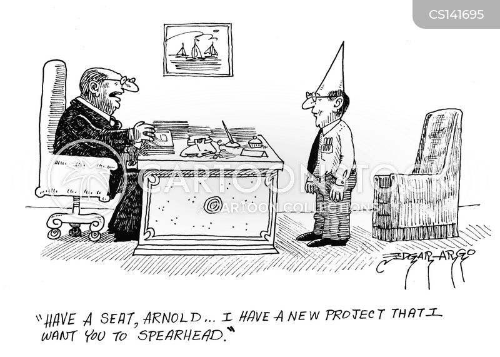spearheading cartoon