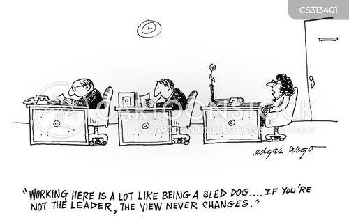 sled dog cartoon