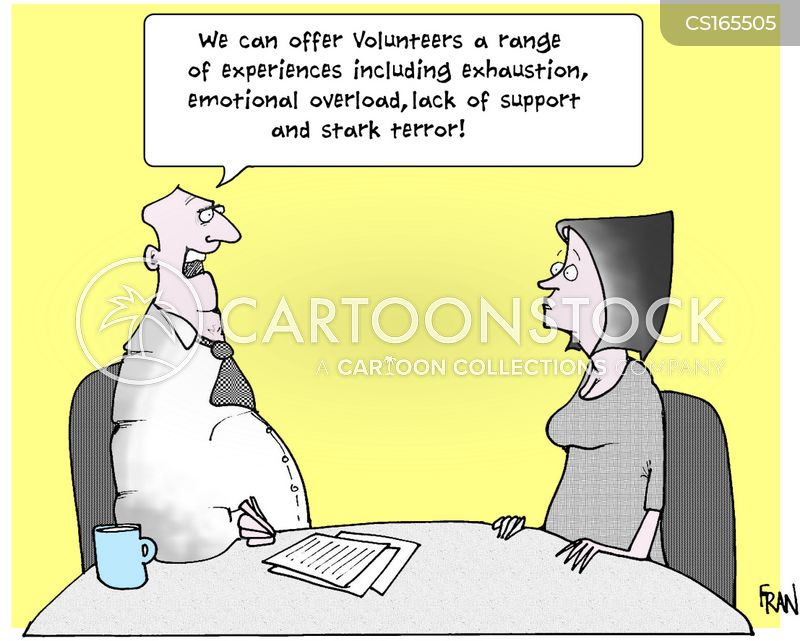 volunteering cartoon