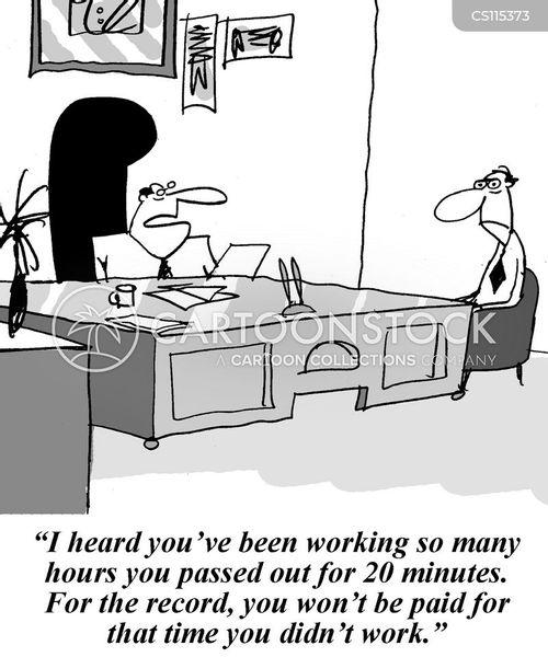 getting paid cartoon