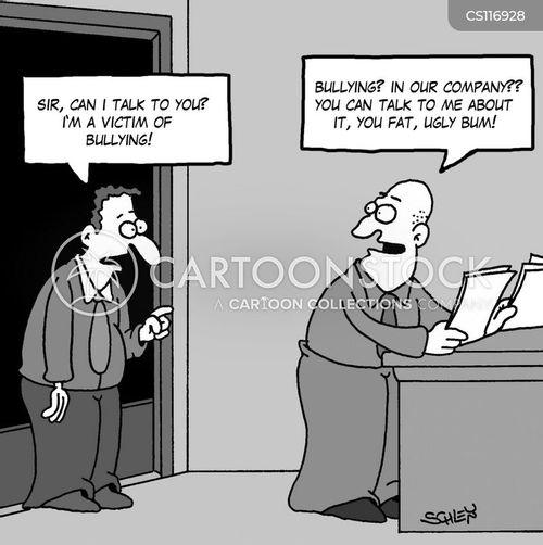 getting bullied cartoon