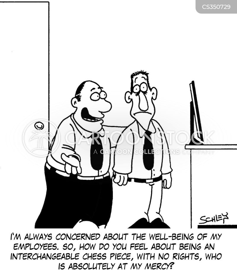 employee well being cartoon