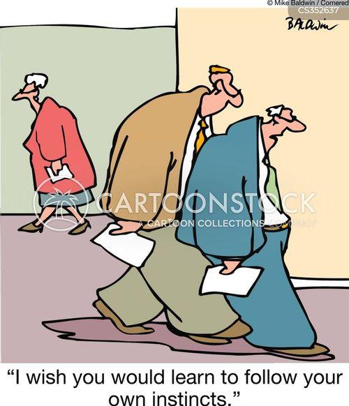 follow your instincts cartoon