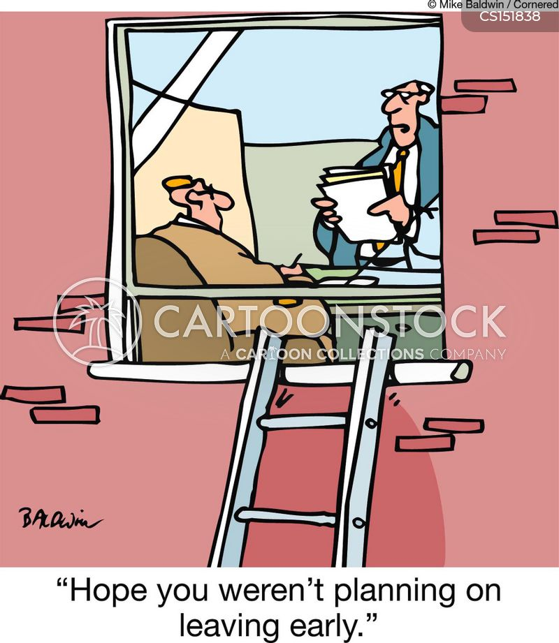 Leaving early cartoons and comics funny pictures from cartoonstock hope you werent planning on leaving early artist sciox Image collections
