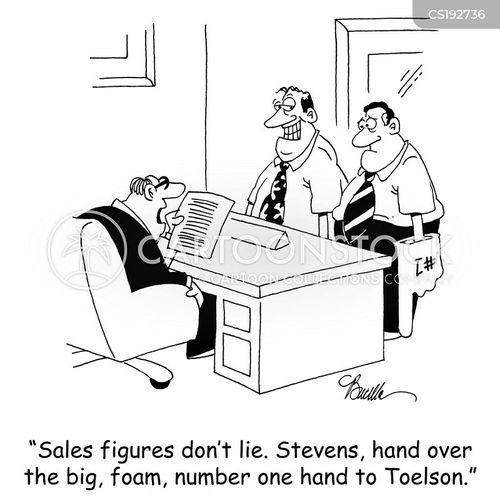 sales figures cartoon