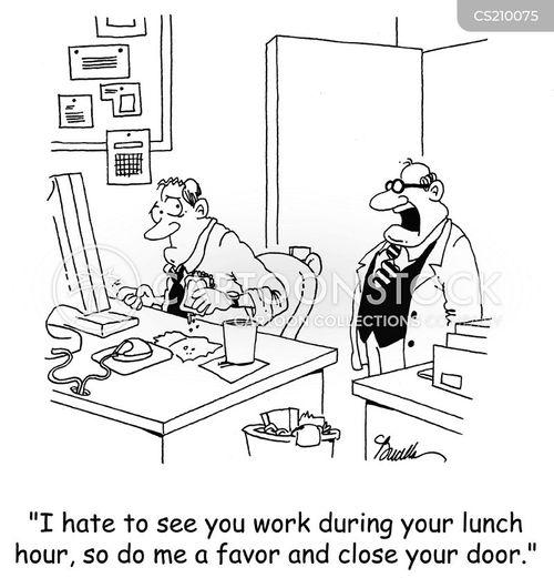 lunch hours cartoon