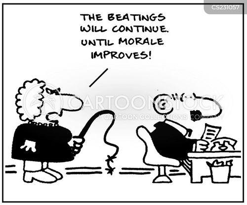 beatings cartoon