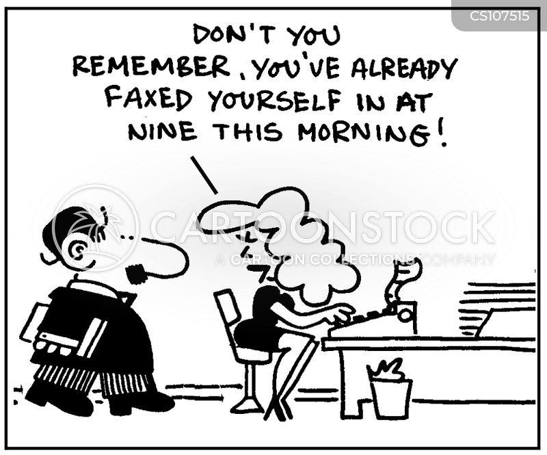 faxed in cartoon