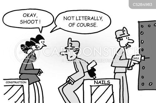 nail gun cartoon