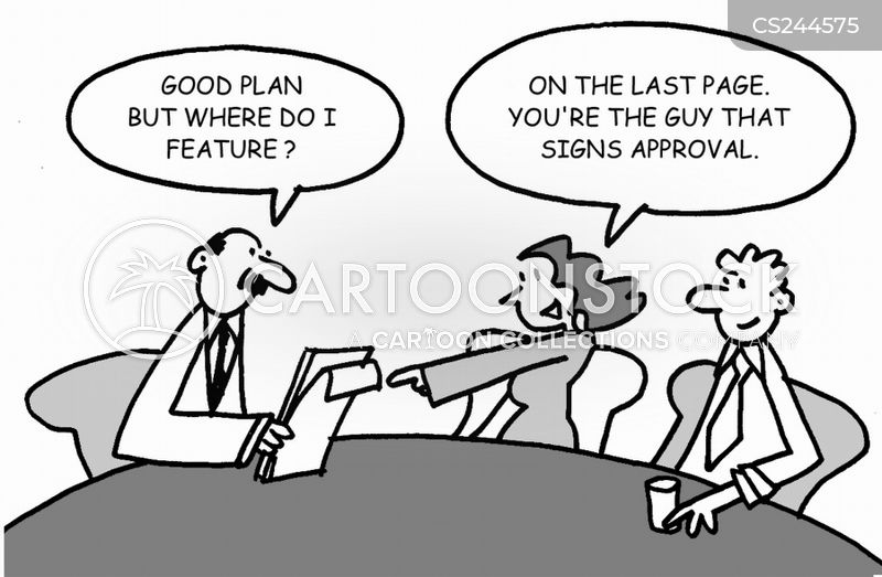 approvals cartoon
