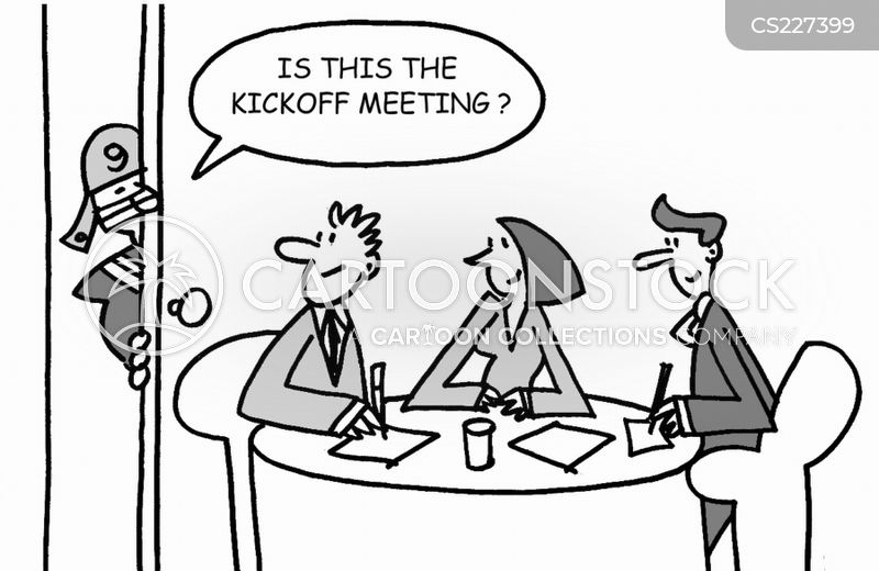 kickoff meetings cartoon