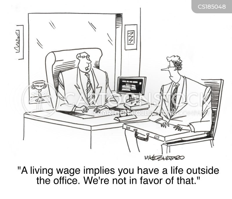 living wages cartoon