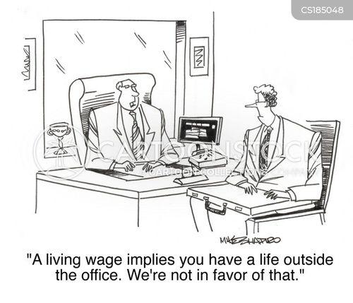 living wage cartoon