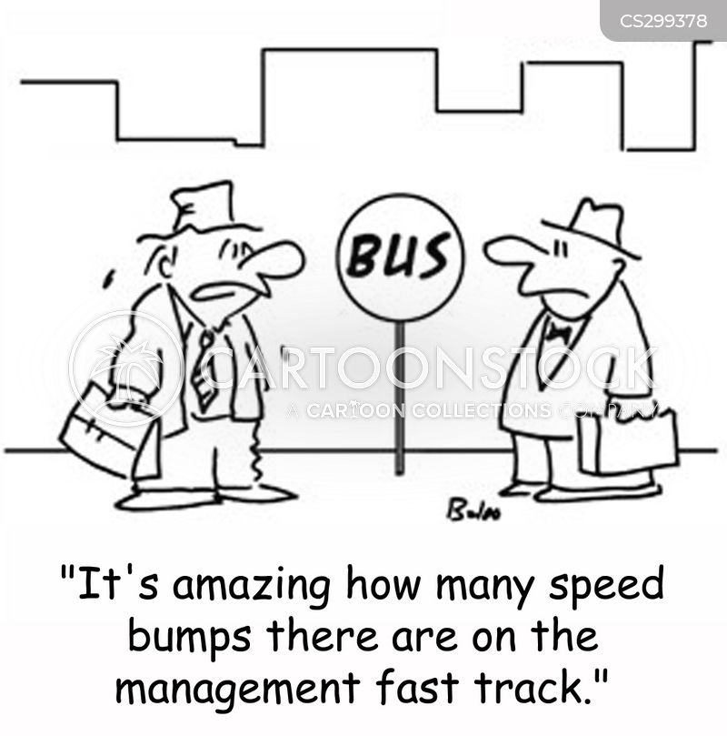 management fast track cartoon