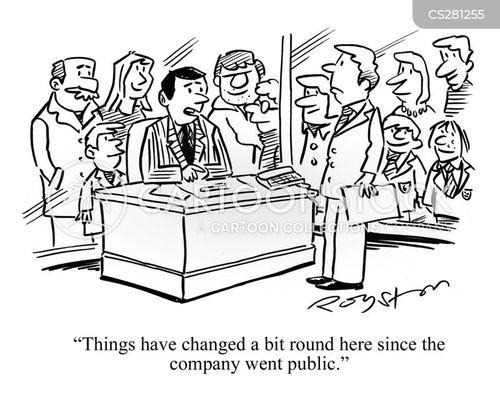 Company goes public stock options