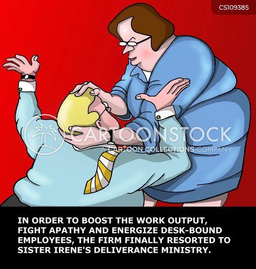 headlock cartoon