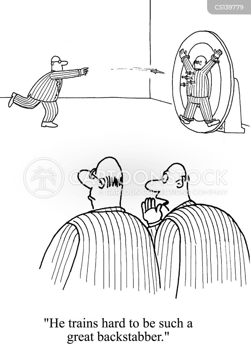 knife throwers cartoon