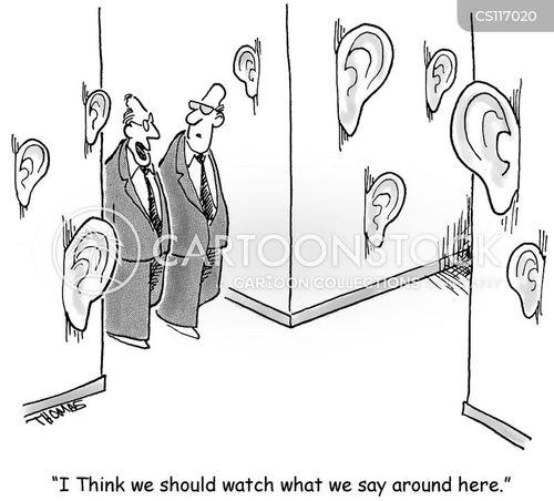 walls have ears cartoon