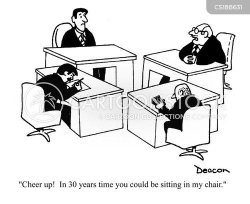 career ladder cartoon