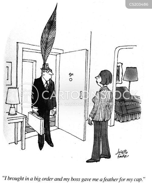 feather in your cap cartoon