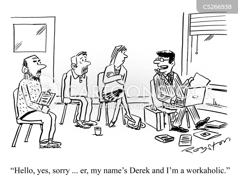 workaholics anonymous cartoon