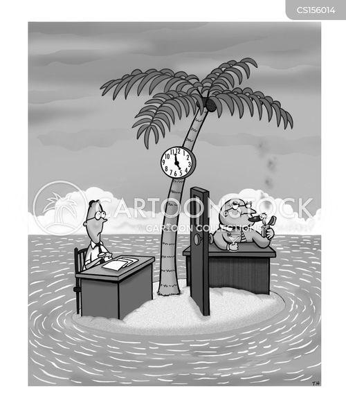remote worker cartoon