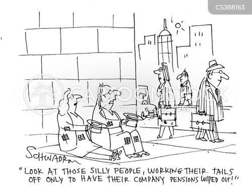 company pension cartoon