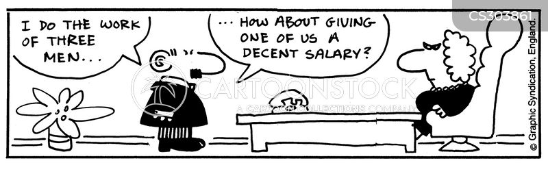 low salaries cartoon