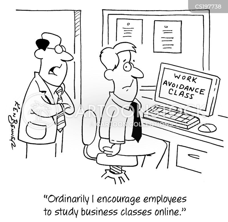 business courses cartoon