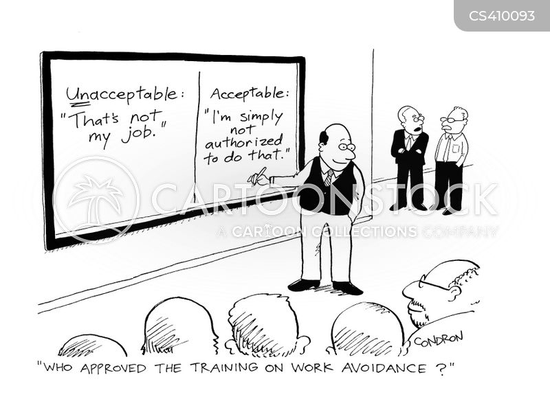 avoidance technique cartoon