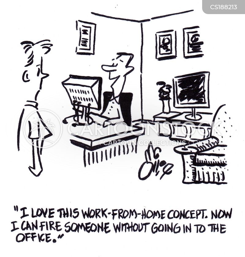tele-commuting cartoon