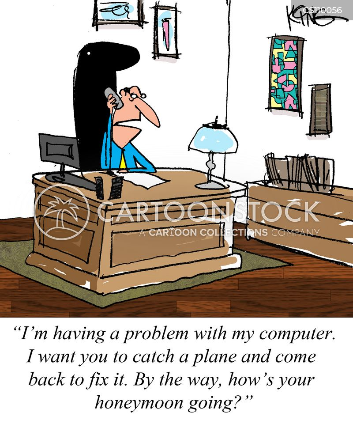 computer technicians cartoon