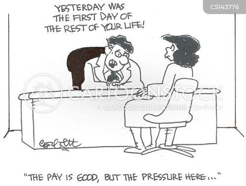 work pressures cartoon