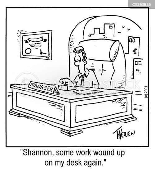 work shy cartoon