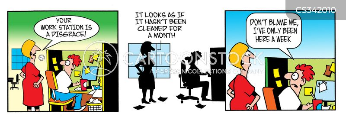 work stations cartoon