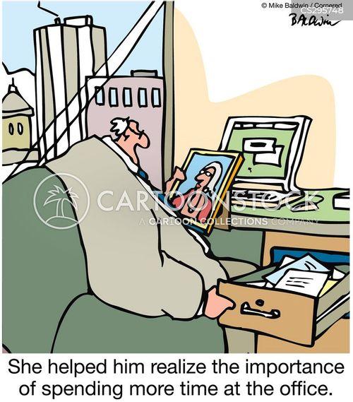 married to job cartoon