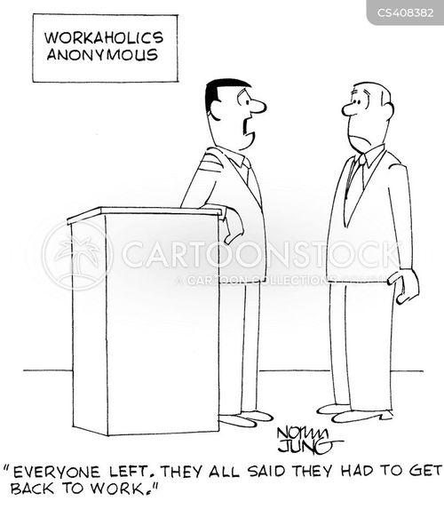 workaholicism cartoon