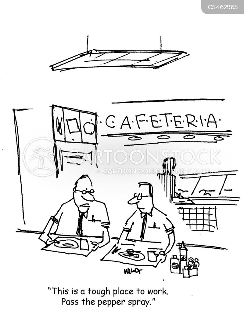 cafeteria workers cartoon