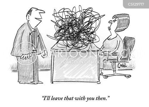 untangling cartoon