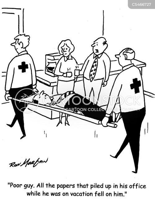 work-related injuries cartoon