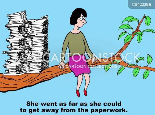 paper-pushing cartoon