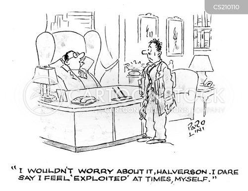 explotiation cartoon