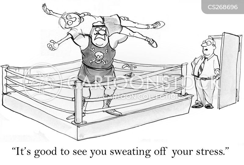 wrestling ring cartoon
