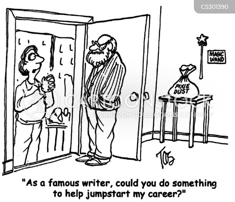 famous writers cartoon