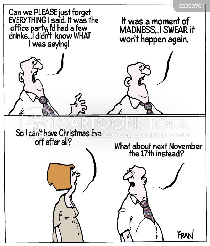 xmas parties cartoon