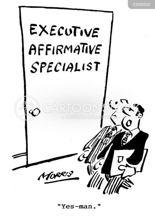 executive affirmative specialists cartoon