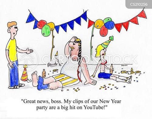 new year party cartoon